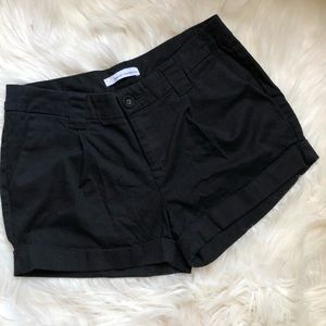French Connection UK Style Black Pleated Shorts